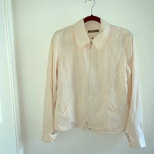 Ralph Lauren Cream White Wool Zip Jacket size 8